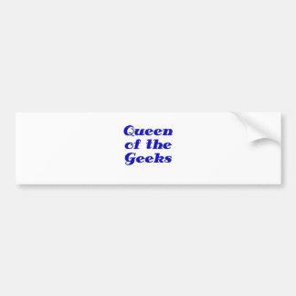 Queen of the Geeks Bumper Sticker