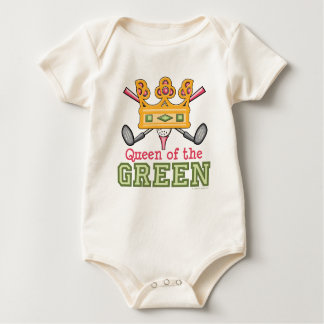 Queen of the Green Golf Infant Creeper