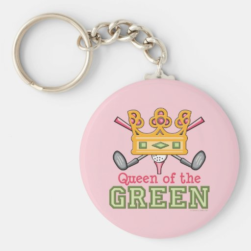 Queen of the Green Golf Keychain