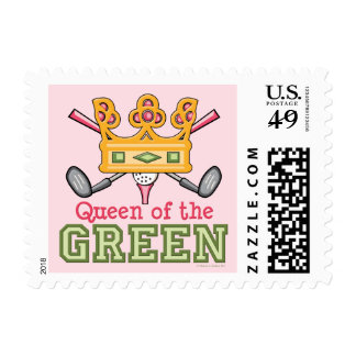 Queen of the Green Golf Postage Stamps