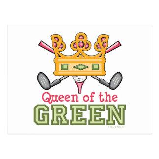 Queen of the Green Golf Postcard