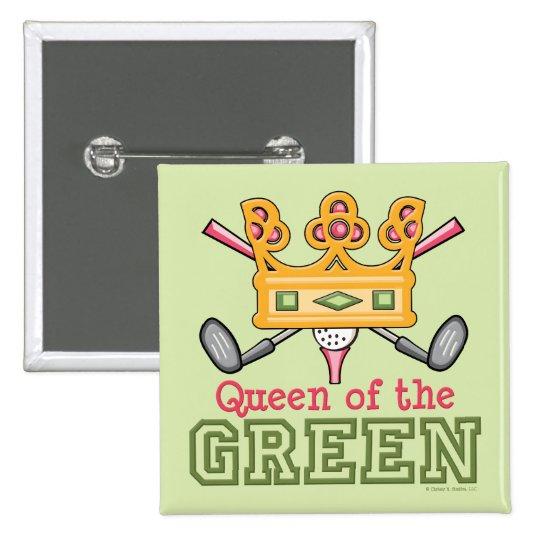 Queen of the Green Golfer Button