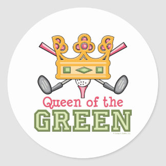 Queen of the Green Golfer Stickers