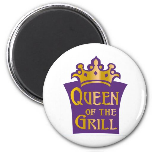 Queen of the grill 2 inch round magnet