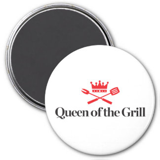 Queen of the Grill 3 Inch Round Magnet