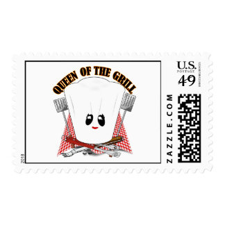 Queen of the Grill - Chef's Hat & BBQ Tools Postage