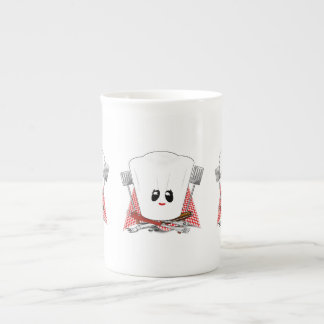 Queen of the Grill - Chef's Hat & BBQ Tools Porcelain Mug