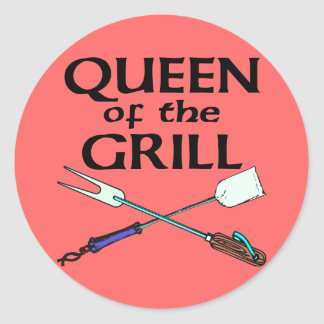 Queen of the Grill Classic Round Sticker