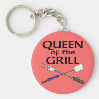 Queen of the Grill Keychains