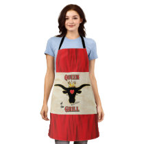 Queen of the Grill - Longhorn Cow Apron