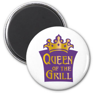 Queen of the grill magnet