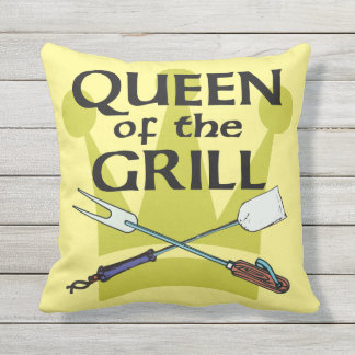 Queen of the Grill Outdoor Pillow