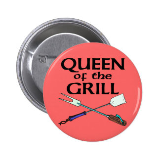 Queen of the Grill Pinback Button