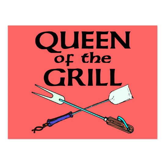 Queen of the Grill Postcard