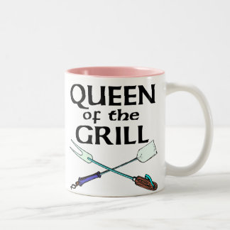 Queen of the Grill Two-Tone Coffee Mug