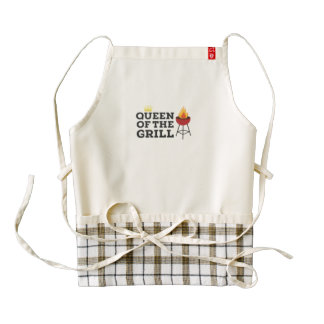 Queen of the grill zazzle HEART apron