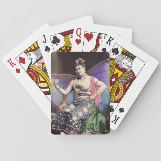 Queen of the Gypsy Faries Altered Vintage Photo Poker Deck