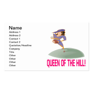 Queen Of The Hill Business Card