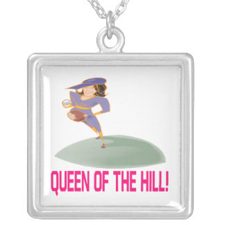 Queen Of The Hill Personalized Necklace