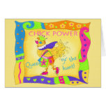 Queen of the Hunt Chick Power Note Card
