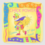 Queen of the Hunt Chick Power Sticker