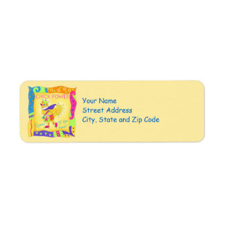 Queen of the Hunt Shopping Chick Power Address Label
