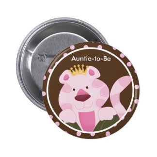 QUEEN OF THE JUNGLE Baby Shower Button