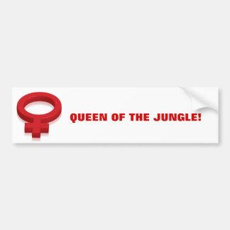 QUEEN OF THE JUNGLE! BUMPER STICKER