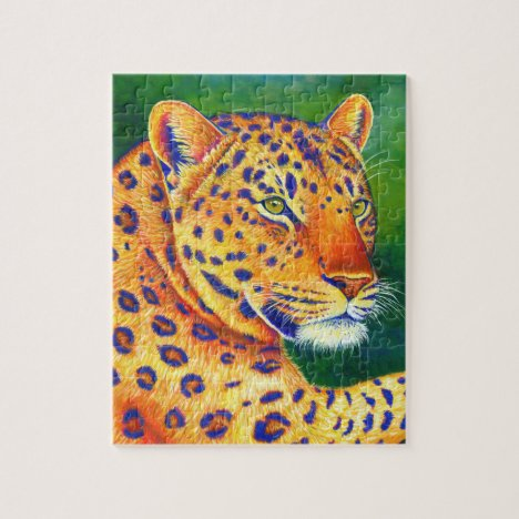 Queen of the Jungle Colorful Leopard Puzzle