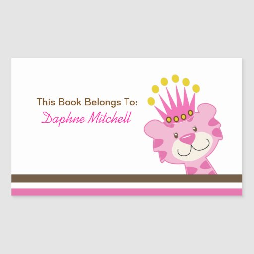 Queen of the Jungle Custom Book Plate Sticker