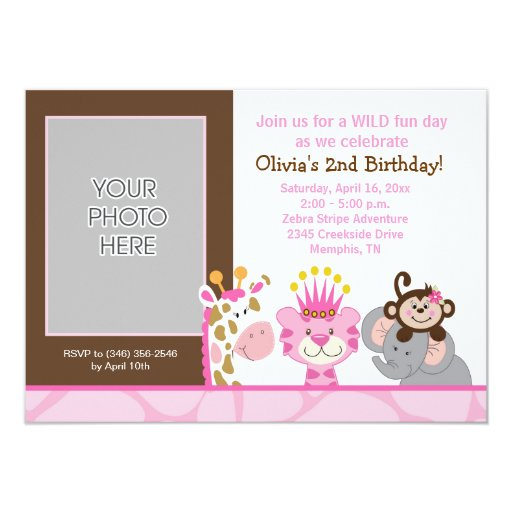 Queen of the Jungle & Friends Birthday Invitation