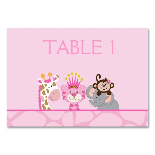 Queen of the Jungle & Friends CustomizedTable Card