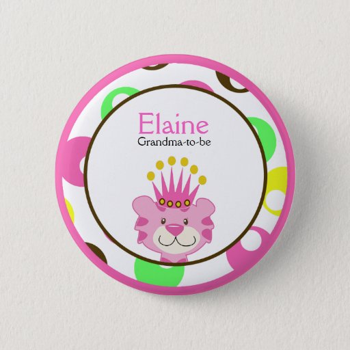 QUEEN OF THE JUNGLE NAME TAG Personalized Button