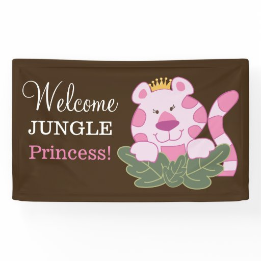 Queen of the Jungle Pink Tiger Banner