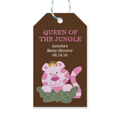 Queen of the Jungle Pink Tiger Gift Tag