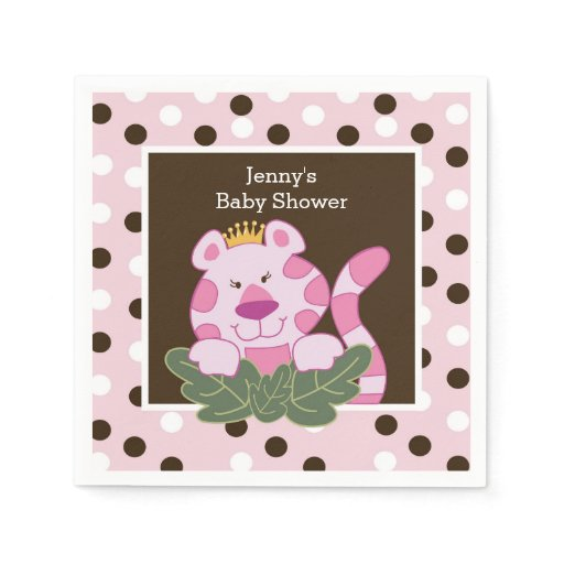 Queen of the Jungle Pink Tiger Napkin