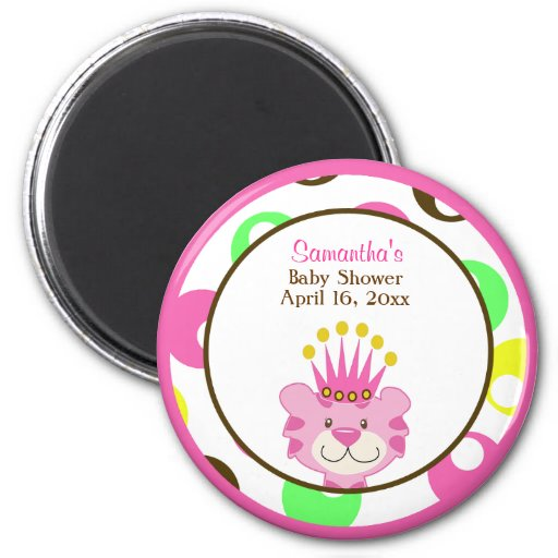 QUEEN OF THE JUNGLE ROUND FAVOR MAGNET