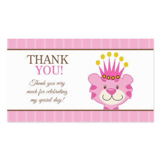 Girl Baby Shower Thank You Business Cards & Templates