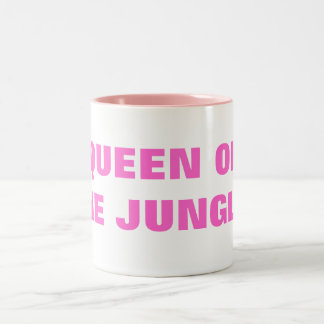 QUEEN OF THE JUNGLE! Two-Tone COFFEE MUG