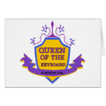 Queen of the Keyboard Greeting Card
