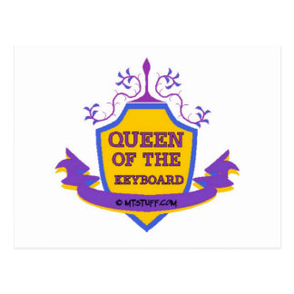 Queen of the Keyboard Post Card