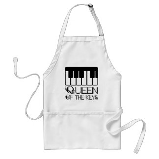 Queen of the Keys Piano Aprons