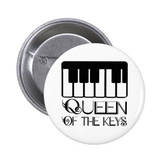 Queen of the Keys Piano Pinback Button