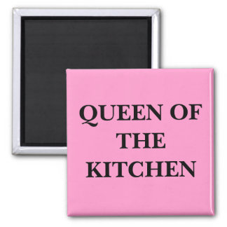 QUEEN OF THE KITCHEN 2 INCH SQUARE MAGNET