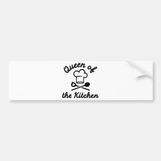 Queen of the kitchen bumper sticker