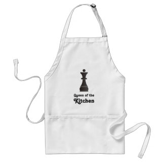 Queen of the Kitchen chess piece Adult Apron