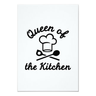 "Queen of the kitchen 3.5"" x 5"" invitation card"