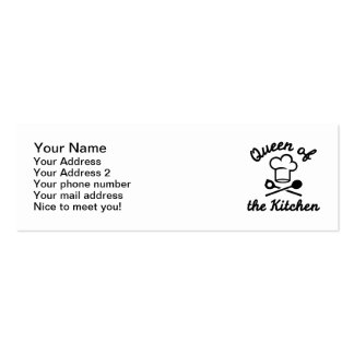 Queen of the kitchen mini business card