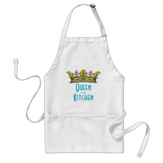 Queen of the Kitchen with Crown Adult Apron
