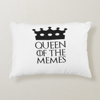 Queen of the Memes, #Memes Accent Pillow